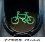 green traffic light on cycle...