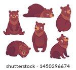 bear set hand drawn style. cute ... | Shutterstock .eps vector #1450296674