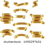 gold ribbon set inisolated... | Shutterstock .eps vector #1450297631