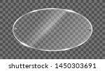 oval glass frame vector.... | Shutterstock .eps vector #1450303691