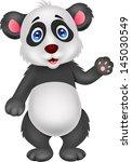 baby panda waving hand | Shutterstock . vector #145030549