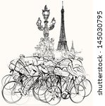 action,alexander iii,arrival,athletes,bicycle,bikes,biking,competition,cycling,cyclists,de,drawing,eiffel,france,french