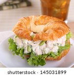 Chicken Salad With Lettuce On ...