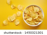 Close Up Of Potato Chips Or...