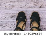 fashionable summer women's... | Shutterstock . vector #1450396694