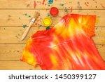 t shirt decorated in tie dye... | Shutterstock . vector #1450399127