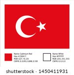national flag of turkey with... | Shutterstock .eps vector #1450411931