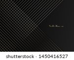 gold lines on black background. | Shutterstock . vector #1450416527