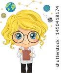 illustration of a kid girl... | Shutterstock .eps vector #1450418174