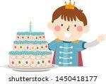 illustration of a kid boy... | Shutterstock .eps vector #1450418177