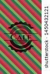 calf christmas badge. vector... | Shutterstock .eps vector #1450432121