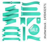 set of ribbons and labels.... | Shutterstock .eps vector #1450432571