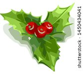 holly berry icon. christmas... | Shutterstock .eps vector #1450434041