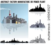 abstract industrial factory ...   Shutterstock .eps vector #145043527
