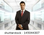 young business man portrait at... | Shutterstock . vector #145044307