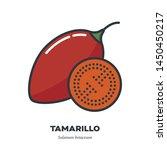 tamarillo fruit icon  outline... | Shutterstock .eps vector #1450450217