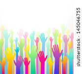 colorful charity background... | Shutterstock .eps vector #145046755