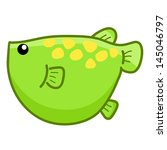 green fish cute cartoon... | Shutterstock .eps vector #145046797