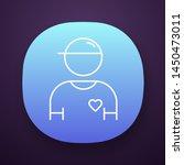 volunteer app icon. charity...