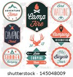 camping vector badges and... | Shutterstock .eps vector #145048009