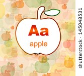 letter a of the english... | Shutterstock . vector #145048531