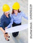 photo of female constructors...   Shutterstock . vector #145050229