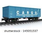 blue rail wagon. | Shutterstock . vector #145051537