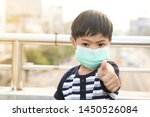 a 5 years old boy wearing a... | Shutterstock . vector #1450526084