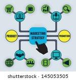 infographic of marketing... | Shutterstock .eps vector #145053505