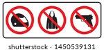 no full face sign no jacket... | Shutterstock .eps vector #1450539131