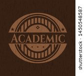 academic wood emblem. vector... | Shutterstock .eps vector #1450548587