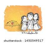 happy raksha bandhan...   Shutterstock .eps vector #1450549517