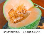 closeup meat and seeds of fresh ... | Shutterstock . vector #1450553144