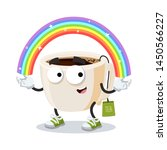 cartoon imagination tea cup...   Shutterstock .eps vector #1450566227