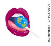 sexy lips with candy earth.... | Shutterstock .eps vector #1450570904