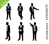 business man silhouettes vector | Shutterstock .eps vector #145058479