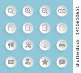 web buttons gray vector icons...