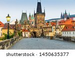 Charles Bridge In Prague In Th...