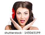 close up portrait on the face... | Shutterstock . vector #145065199