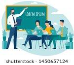 teacher speaking to students...   Shutterstock .eps vector #1450657124