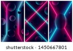 bright glowing pink and blue... | Shutterstock .eps vector #1450667801