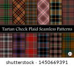 Set  Tartan Plaid Scottish Seamless Pattern. Texture from tartan, plaid, tablecloths, shirts, clothes, dresses, bedding, blankets and other textile. Vol 21
