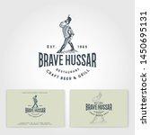 brave hussar logo. restaurant... | Shutterstock .eps vector #1450695131