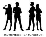 vector silhouettes of  men and... | Shutterstock .eps vector #1450708604