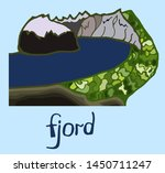 fjord. mountains. scandinavia.... | Shutterstock .eps vector #1450711247
