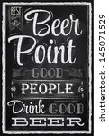 poster lettering people drink... | Shutterstock . vector #145071529
