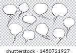set of unusual comic style... | Shutterstock .eps vector #1450721927