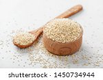 Bowl Of Healthy White Quinoa...