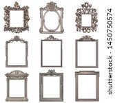set of silver frames for... | Shutterstock . vector #1450750574