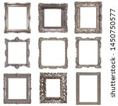 set of silver frames for... | Shutterstock . vector #1450750577